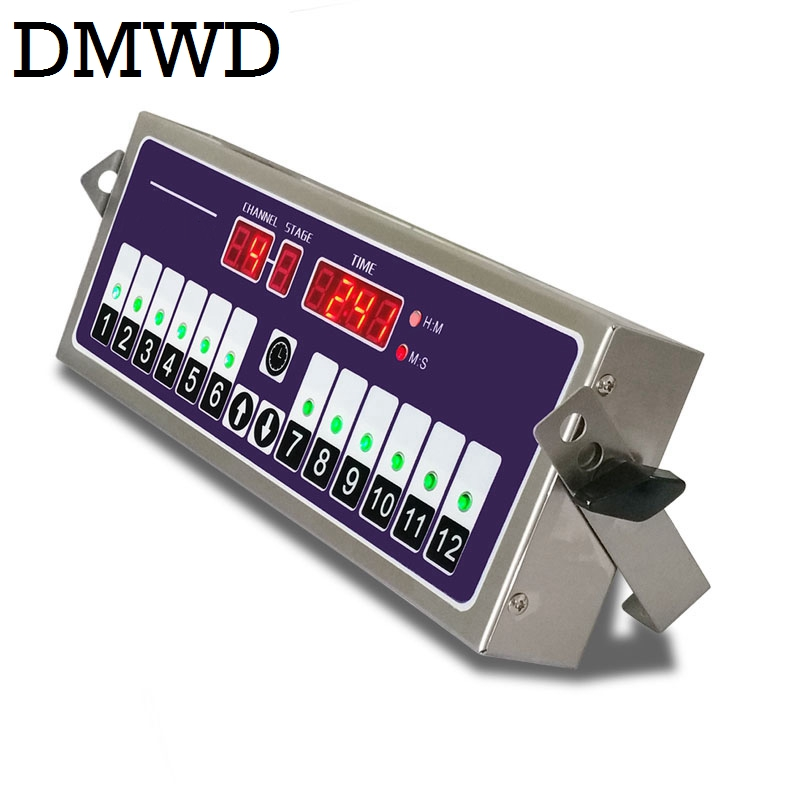 DMWD Commercial Kitchen timer 12 channel fried chicken burger shop baking timing reminder countdown twelfth Digital button alarm mexi mechanical kitchen timer 60 minute countdown cooking reminder clock tool home kitchen appliance accessories