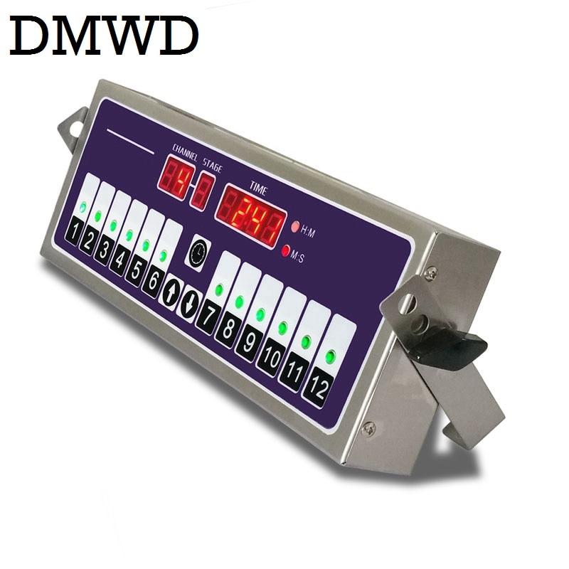 DMWD Commercial Kitchen timer 12 channel fried chicken burger shop baking timing reminder countdown twelfth Digital button alarm universal oven timer buzzer alarm reminder