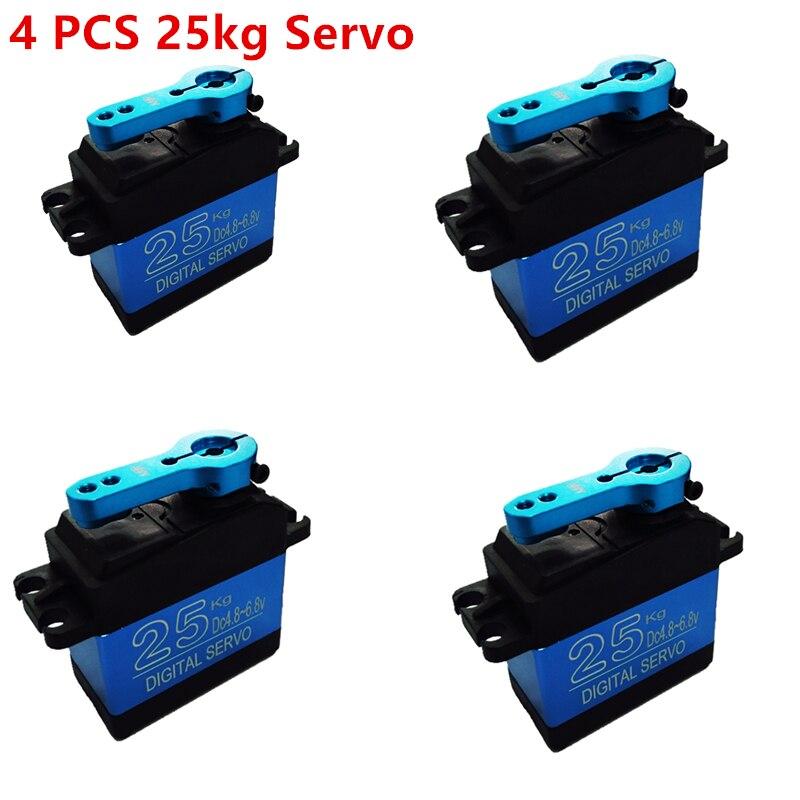 NOVA DS3325MG 4 PCS atualização RC servo 25 KG full metal gear servo digital servo baja versão para carros À Prova D' Água brinquedos DO RC
