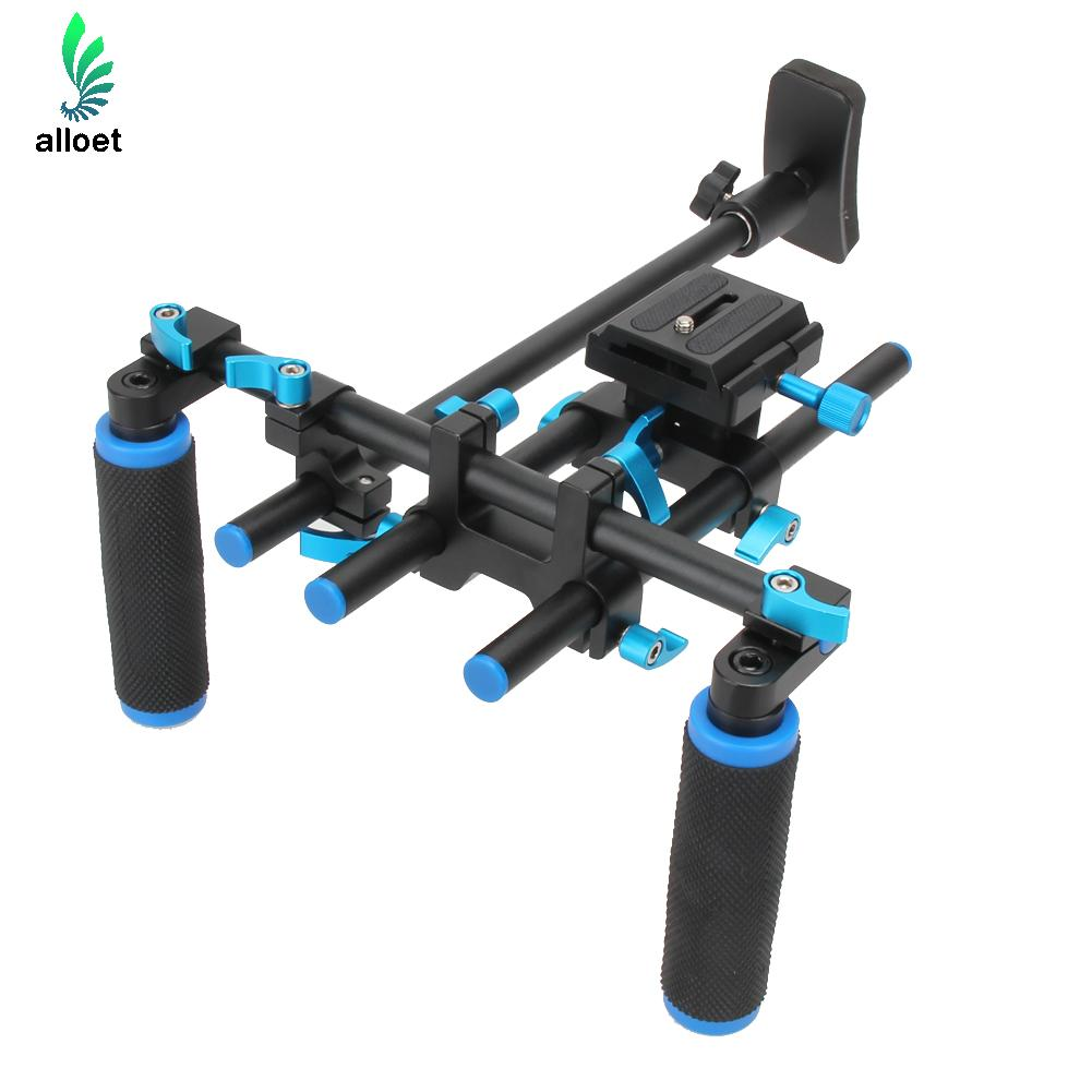Commlite CS-V1 High Strength Aluminum Alloy Shoulder Mount Rig Shoulder Pad Support Video Bracket for All DSLR Camera/Camcorders f14123 commlite cs v1aluminum alloy handgrip holder dslr shoulder mount rig camera stabilizer dslr rig easy for shooting camera