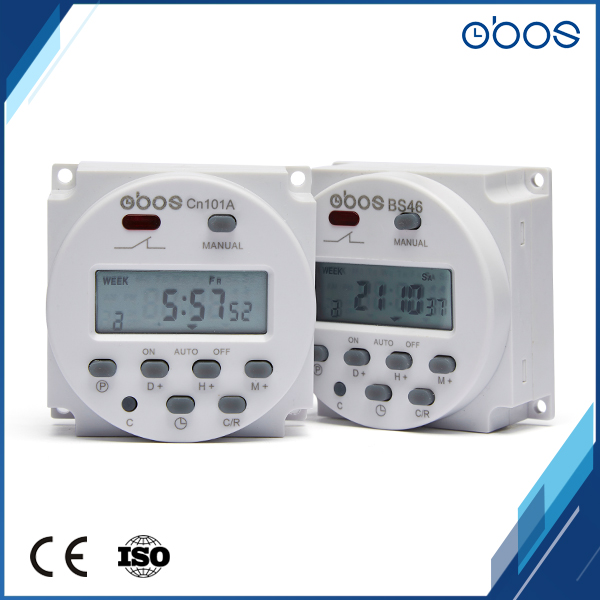 obos brand rechargeable 220v timer digital programmable time switch