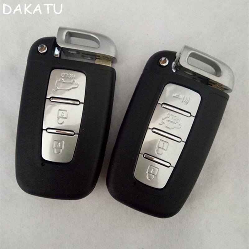 Dakatu 3/4 botão inteligente remoto chave escudo para hyundai ix35 sonata 8 kia k2 k5 sportage forte substituição inteligente escudo