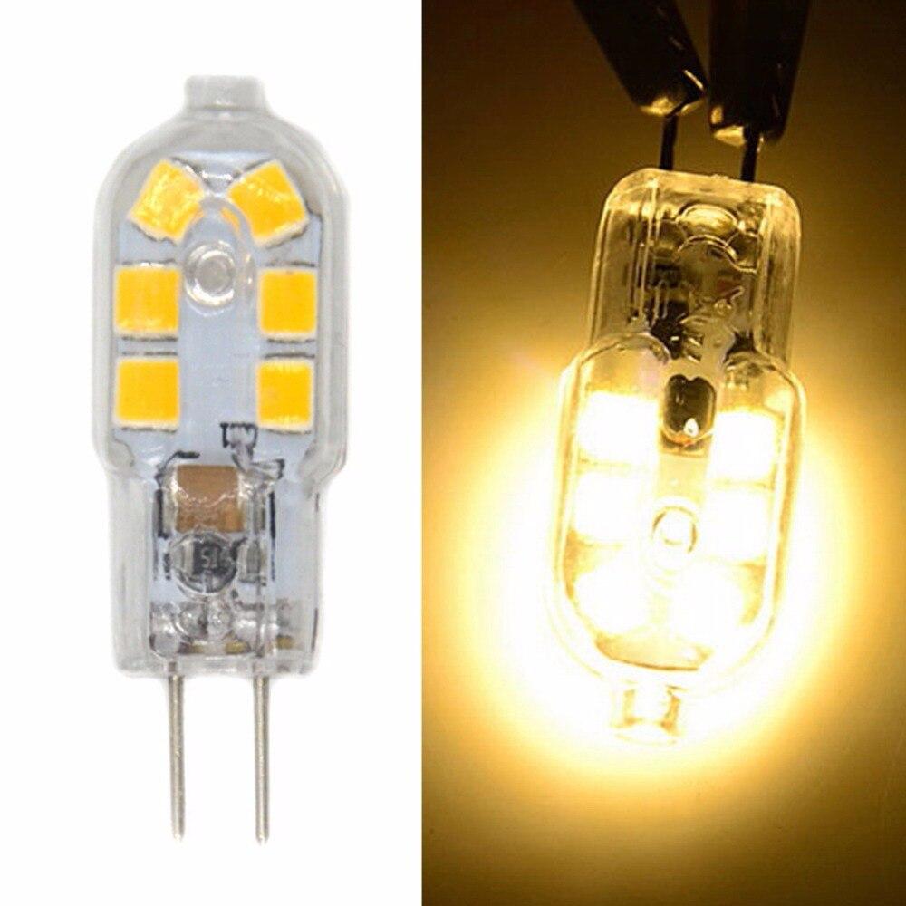 Купить с кэшбэком 1.5W G4 LED Bi-pin Lights 12 SMD 2835 250 lm Warm White Cold White Decorative DC 12 V 10pcs  Mini LED Bulb Replace Halogen Lamps