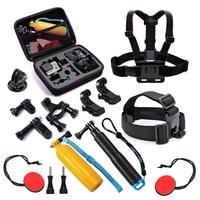 SHOOT Accessories Set Strap Mount Selfie Stick For GoPro Hero 6 5 4 3 Xiaomi Yi