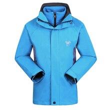 Winter Windstopper Coat Outdoor Ski Hiking Climbing Fishing Clothing Fleece Lining Waterproof Jacket Men Jaqueta Masculina