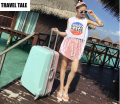"TRAVEL TALE 20""24""26 inch pink/green abs spinner aluminium frame travel suitcase bag for girls"