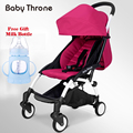 Light-Weight Baby Stroller Portable One-Key Easy Folding 5.8 Kg Single Hand Carry On Flight Infant Travelling Lying Pram 9 Gifts