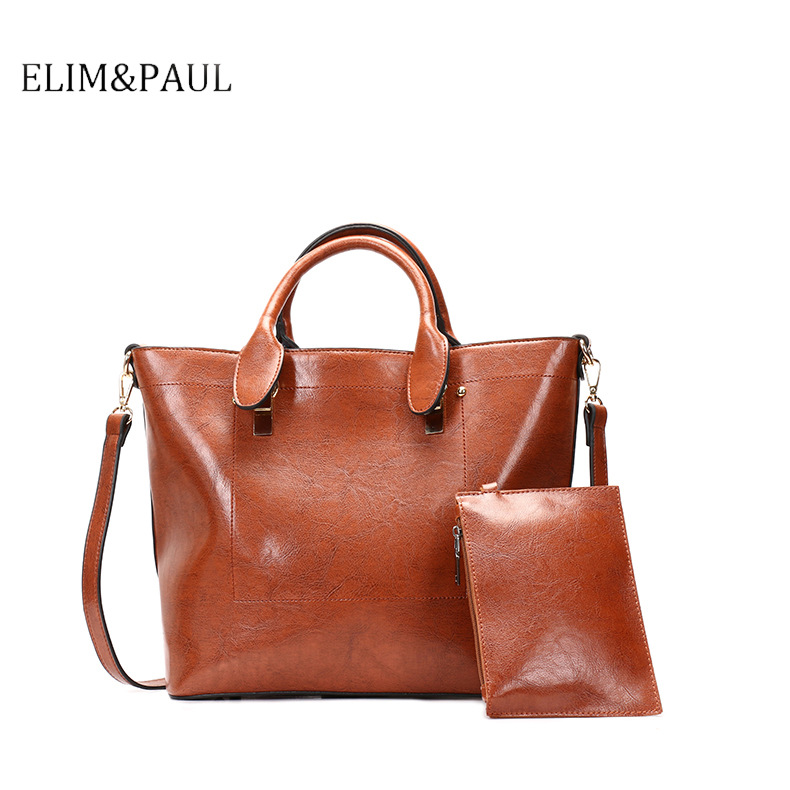 ELIM&PAUL Handbags Womens Shoulder Bag Female Large Capacity PU Leather Messenger Bags for Women 2018 Top-handle Bag sac a mainELIM&PAUL Handbags Womens Shoulder Bag Female Large Capacity PU Leather Messenger Bags for Women 2018 Top-handle Bag sac a main