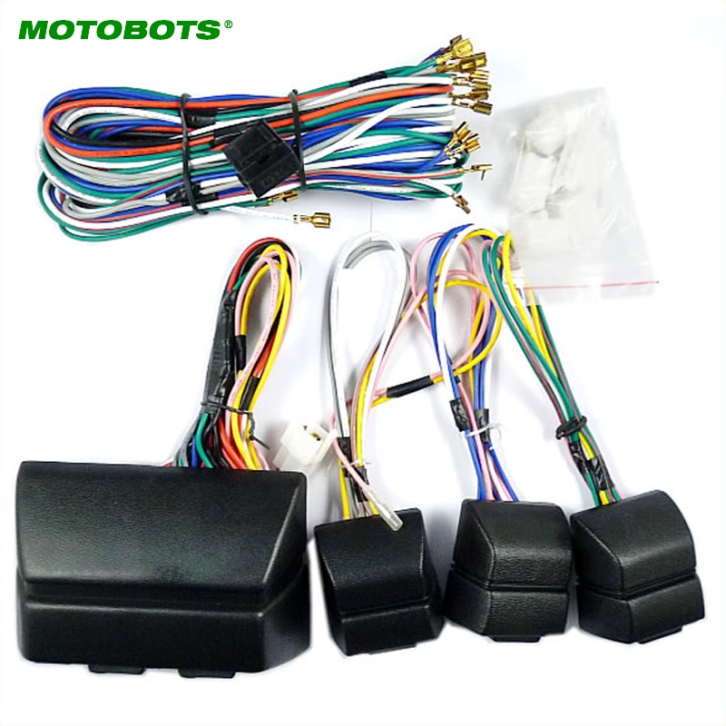 MOTOBOTS Universal For Auto 4 Doors Car Power Window 8PCS Switches With Holder And Wire Harness