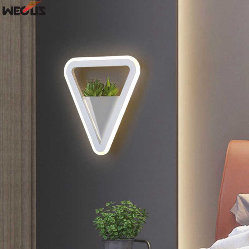 (WECUS) جديد الفن النبات الجدار الخفيفة ، أباجورة الحديثة بسيطة الإبداعية شخصية الممر غرفة المعيشة الممر مصباح الجدار مصباح