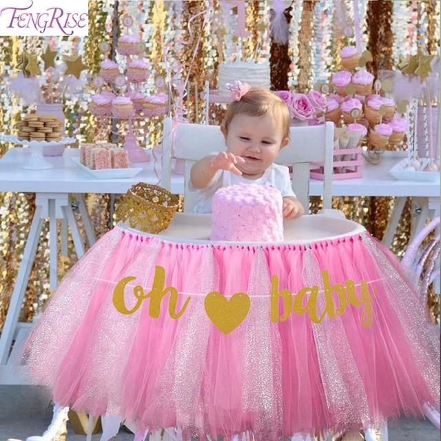 Fengrise 10 Pcs Diy Baby Girl Boy Banner Oh Baby Birthday Party