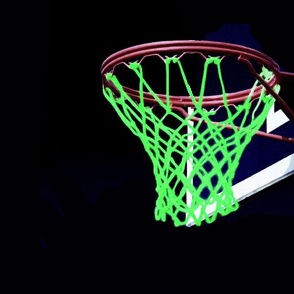 New Glowing Light Shooting Training Green Luminous Basketball Net Backboard Ball Mesh Nylon Standard Basketball Hoop Net