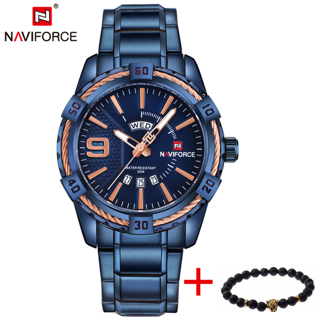 Watches Men Luxury Brand Sport Full Steel Quartz Watch Men's Waterproof Military Wrist watches 1