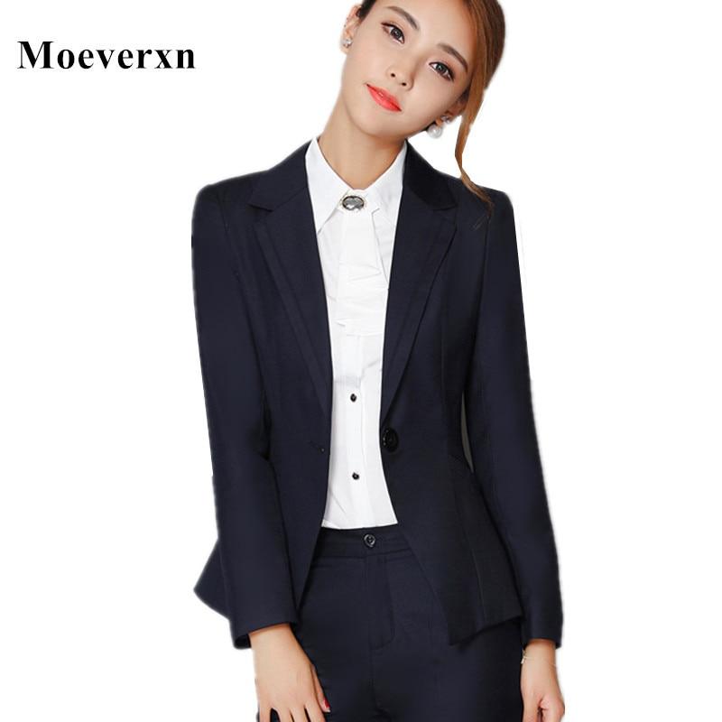 font b Women b font Single Button Suit Jacket Spring Autumn Slim font b Women