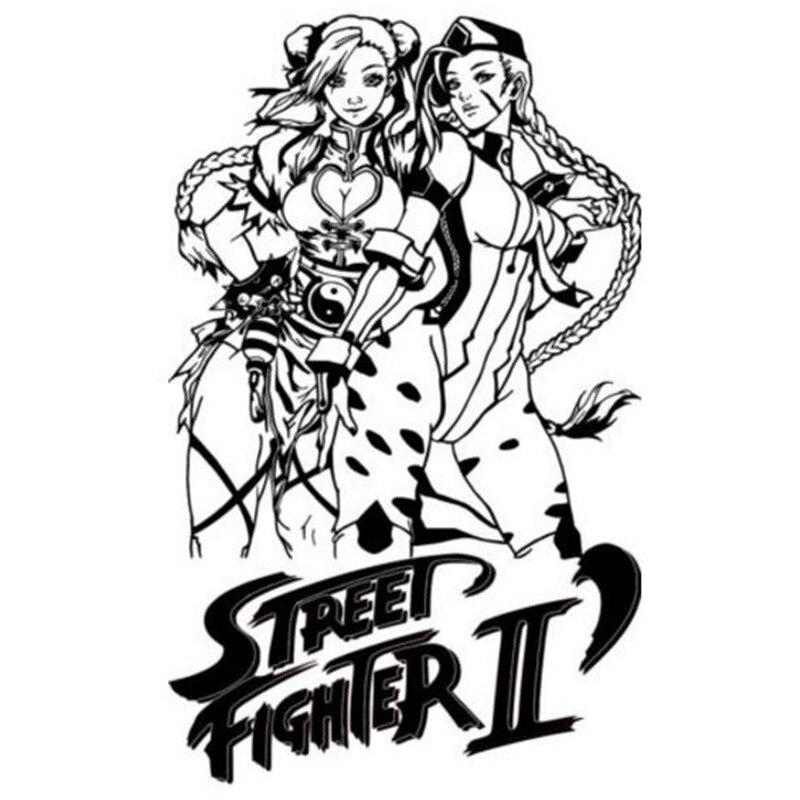 Streetfighter Characters Chun Li Amp Cammy Wall Art Sticker Decal