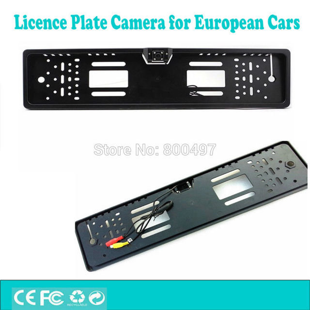 Car License Plate Frame Car Rear View Night Vision Camera Reverse ...