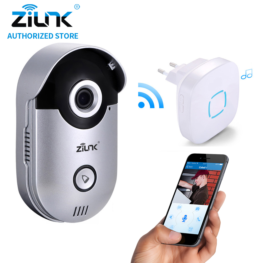 ZILNK Video Intercom HD 720P WIFI Doorbell Camera Smart Home Security Night Vision Wireless Doorphone With Indoor Chime Silver 7 inch video doorbell tft lcd hd screen wired video doorphone for villa one monitor with one metal outdoor unit night vision