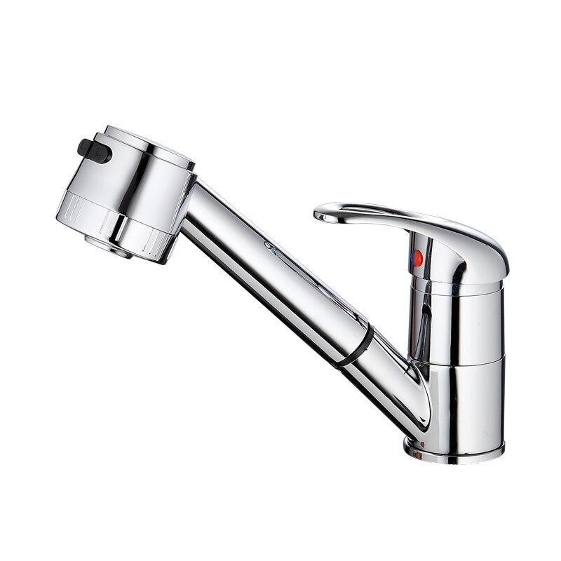 in ottone massiccio miscelatore da cucina singola maniglia rubinetto della cucina singolo foro finitura cromata cucina