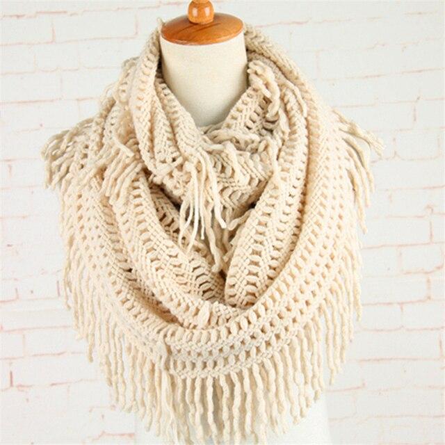 Crochet redecilla bufanda Halloween patrón infinito bufandas mujer ...