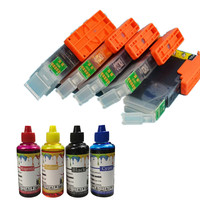 Perfect combination kit Refillable Ink Cartridge with 4 ink For canon PIXMA MG6840 MG5740 MG 6840 MG 5740 TS5040 TS6040 printer