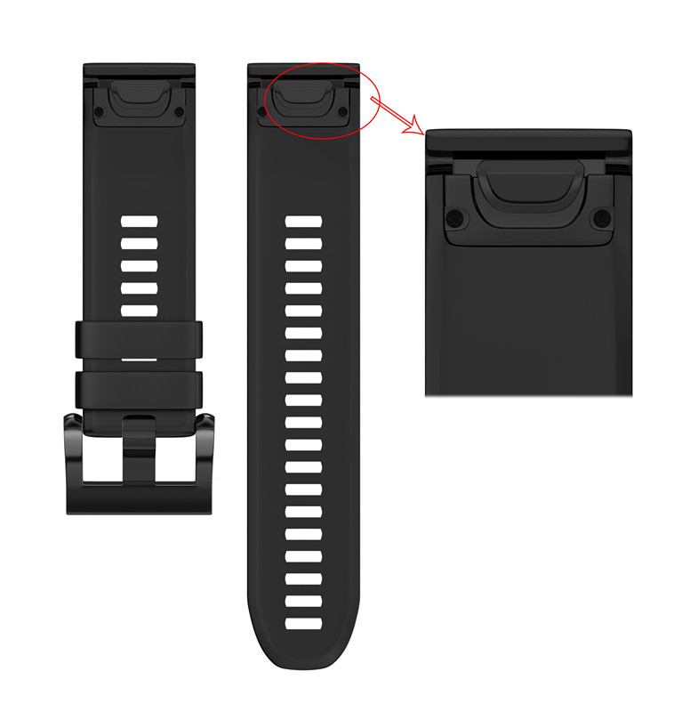 Replacement Band Easy Fit 22mm Silicone Watch Strap Watchbands For Garmin Fenix 5 Quatix 5 Sapphire, Forerunner 935 Approach S60