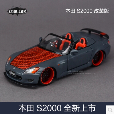 New Maisto 1:24 Honda S2000 roadster Modified version simulation alloy car model origin Limited Collection kids toy boy gift