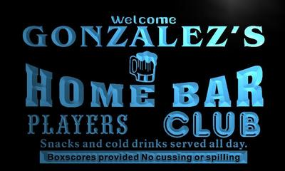 x1038-tm Gonzalezs Home Bar Dugout Custom Personalized Name Neon Sign Wholesale Dropshipping On/Off Switch 7 Colors DHL