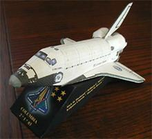 Aerospace Science and Technology Columbia Space Shuttle 3D Paper Model DIY Origami Toy