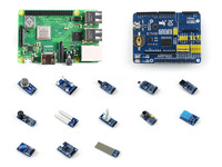 Raspberry Pi 3 Model B The Third Generation Pi Development Kit Expansion Board ARPI600 Various Sensors
