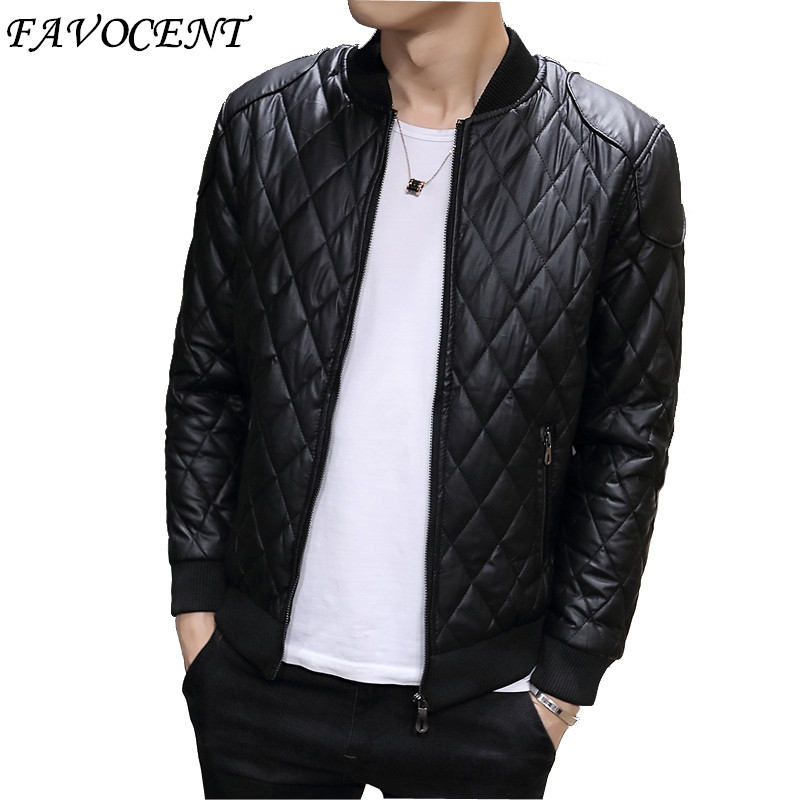 autumn winter 2017 fashion men's leather coat <font><b>trend</b></font> new Korean casual leather jacket collar men's clothes M-3XL Free shipping