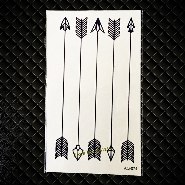 810099d74 Disposable Sexy Black Fake Arrow Tattoo Sticker For Men Women Tatoo Decals  Waterproof Body Art Temporary