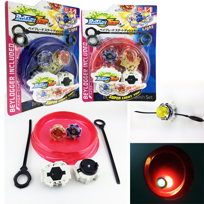 Beyblade Metal Fusion 4D  Launcher Beyblade LED Spinning Top set Kids Game Toys Christmas Gift for Children