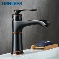 Basin Faucets Antique Color Brass Crane Bathroom Faucets Hot and Cold Water Mixer Tap Contemporary Mixer Tap torneira