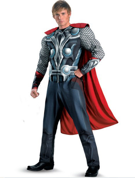 Free shipping,Avengers Movie adult thor Avenger costume ,Thor muscle party clothes,Thor clothing