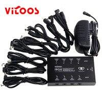 VITOOS IS04 ALÉM de Efeitos de Guitarra de Alta Qualidade da fonte de Alimentação 8 pcs DC cabos mais 1Y cabo conecte o adaptador AC para 100 ~ 240 V