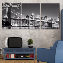 FULLCANG diy 3 pieces diamond painting new york brooklyn bridge triptych mosaic cross stitch 5d embroidery full drill G1280