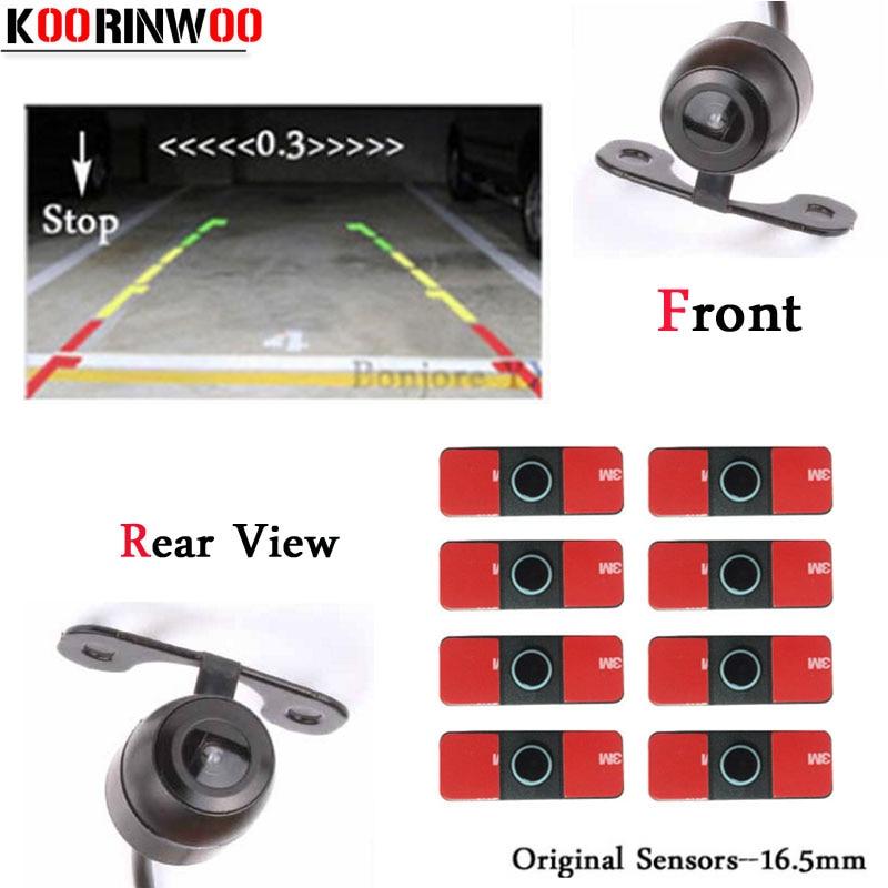 Koorinwoo 2019 Parktronic HD CCD Car Parking Sensors Front Camera Rear view camera Backup Digital Show
