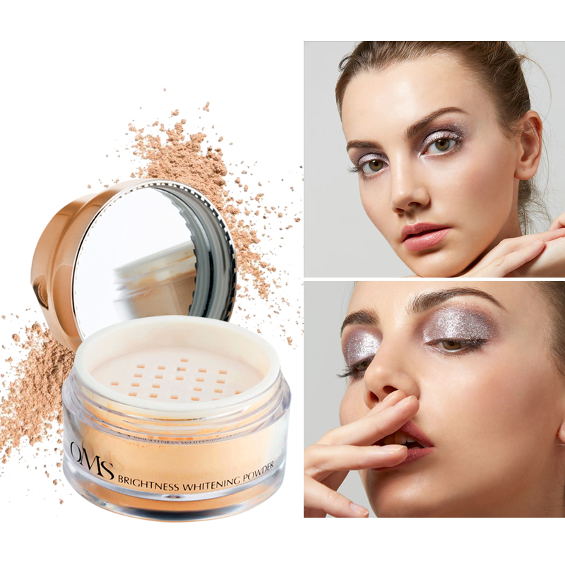 Loumesi loose powder Face Powder oil control cosmetics   Brighten Face Powder Make up mineralize skinfinish cover face cream  1