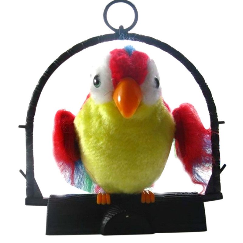 Toys For Child Kids Antistress Waving Wings Talking Talk Parrot Imitates & Repeats promotes brain development learning Gags