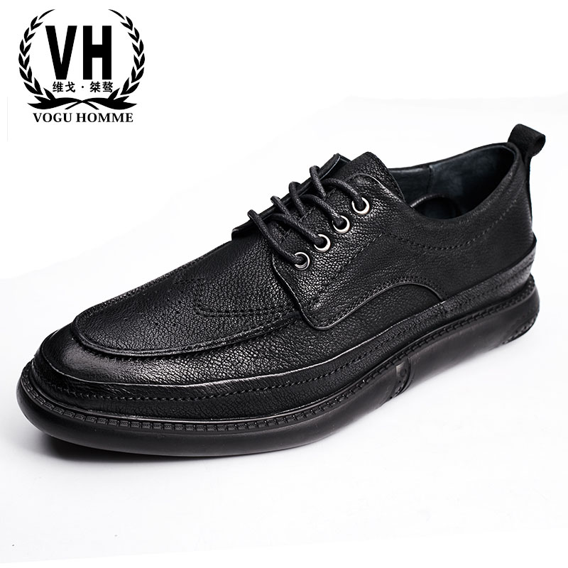 The British men's leather shoes Bullock carved retro business casual shoes men men shoes soled the spring and summer men casual shoes men leather lace shoes soled breathable sneaker lightweight british black shoes men