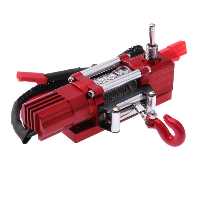 RC Crawler Car Metal Electric Winch for 1:10 Traxxas Redcat D90 RC Crawler Car Useful Accessories&Props