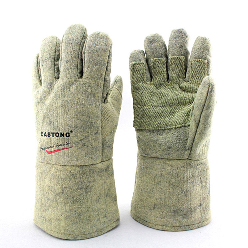 500 Degree High Temperature Resistant Gloves Flame retardant Fireproof Anti scalding Industry Labor Safety Heat insulated
