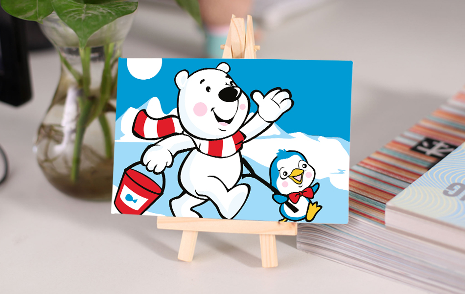 children diy oil Painting by numbers small bear coloring by number ...
