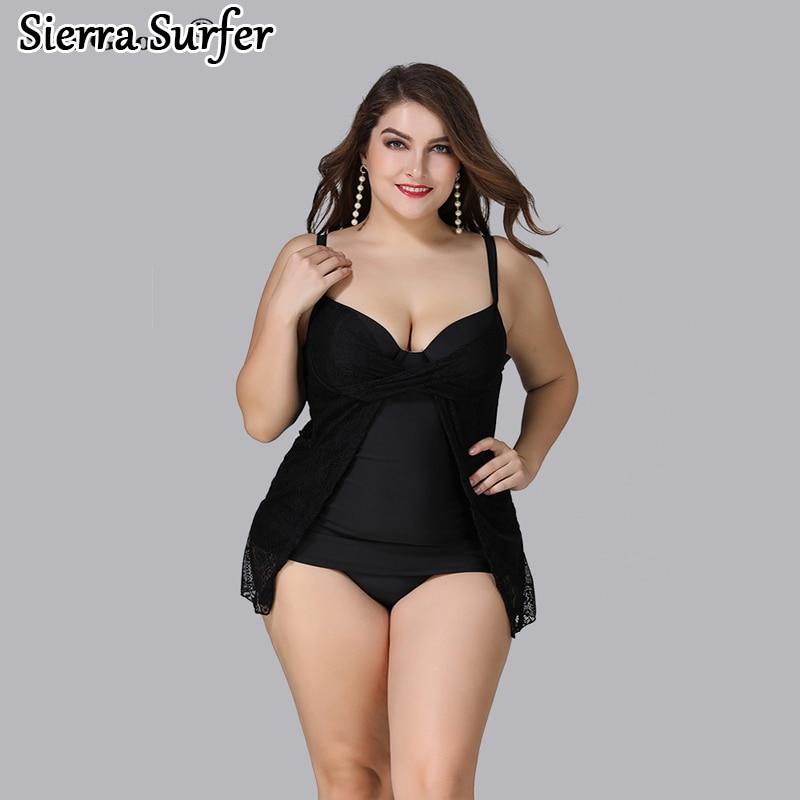 43387f51158 Detail Feedback Questions about Plus Size Swimwear Large Size Large Women  Swimsuit Bathing Suits Fat Women Bikini Set Push Up 2018 Bigger Sizes Woman  ...