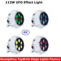 New Arrival 4 Unit LED Bee Eye UFO Effect Light 6X15W 4IN1 RGBW With Safety Cable