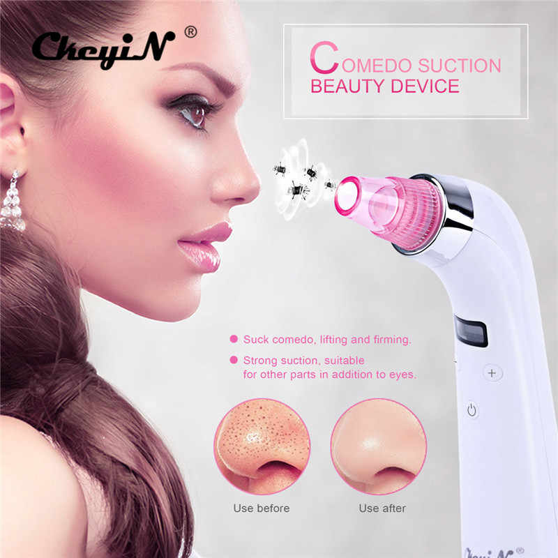 CkeyiN herramientas para el cuidado Facial limpiador de poros Facial Comedo ventosa eliminador de espinillas eliminador de acné Dispositivo de masaje de belleza