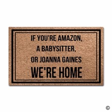 Funny Door Mat If Youre Babysitter Were Home Printed Doormat Outdoor Indoor Non-woven
