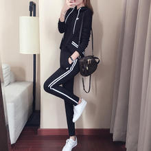 YICIYA Black striped tracksuits for women co-ord set 2 piece sets 2019 plus size big 4xl 5xl hoodies top and pants suits outfit