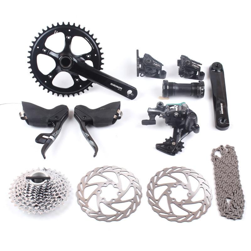 SRAM FORCE 1 11 s 1x11 s Route Vélo Groupset APEX 1 S350 Cranket 44 T 170mm 11-32 T & NUTT frein à disque 140mm Double Action Étriers