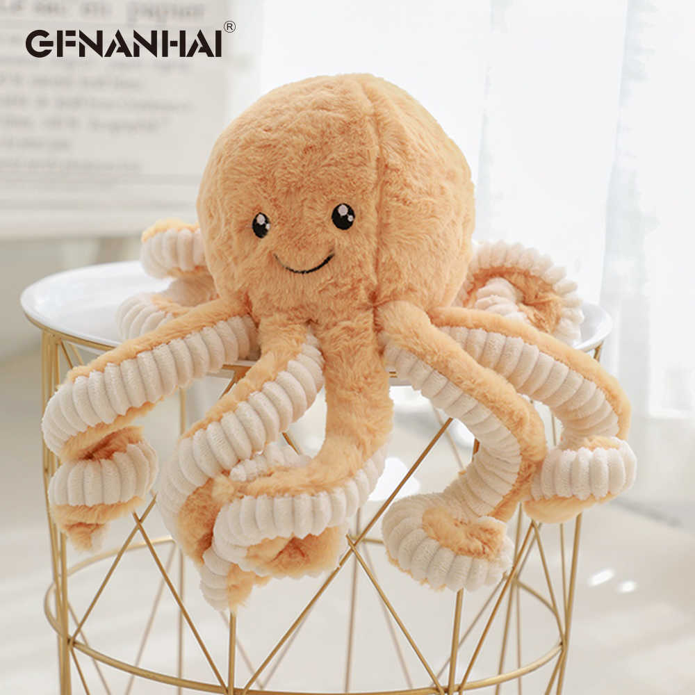 1pc 40/60/80cm Large octopus Plush Pillow Stuffed Soft Toys Baby Sleeping Appease Dolls Home Decor Sofa Cushion Present